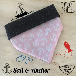 Sail & anchor dog bandana