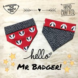 hello mr badger dog bandana