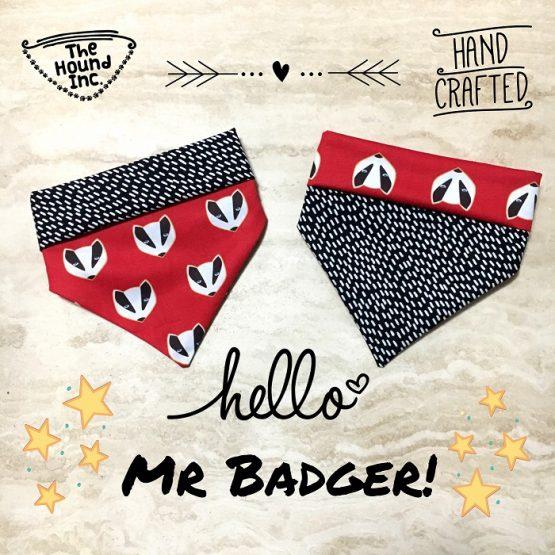 hello mr badger dog bandana