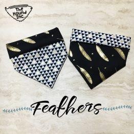 feathers dog bandana
