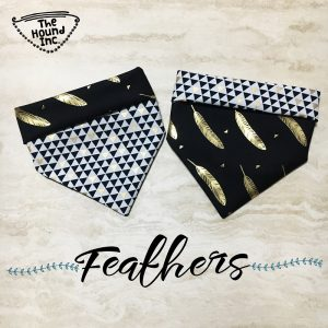 feathers dog bandana