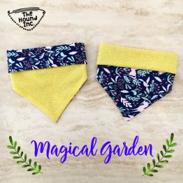 magical garden dog bandana