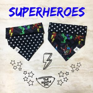 superheroes black dog bandana