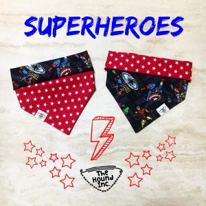 superheroes red dog bandana