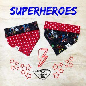 superheroes red dog bandana